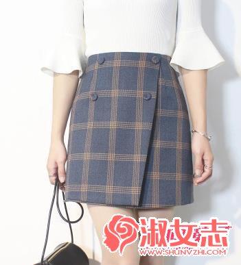 资讯生活冬季女生短裙怎么搭配 看A字短裙搭配法